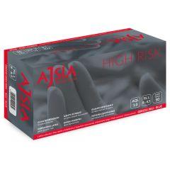 Manusi latex AJSIA High Risk, unica folosinta, nepudrate, L-30cm, 0.33mm, 50 buc/cutie-albastre- XL