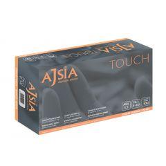 Manusi vinil AJSIA Touch, unica folosinta, nepudrate, 0.08mm, 100 buc/cutie - albe - marime L