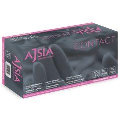 Manusi latex AJSIA Contact, unica folosinta, nepudrate, 0.11mm, 100 buc/cutie - albe - marime L