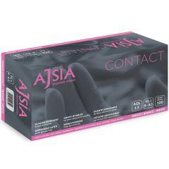 Manusi latex AJSIA Contact, unica folosinta, nepudrate, 0.11mm, 100 buc/cutie - albe - marime XL