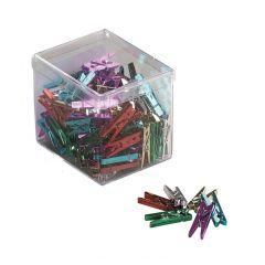 Clesti din platic cu arc, pentru prindere, 25mm, 20 buc/cutie, ALCO - culori asortate metalizate
