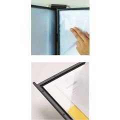 Buzunare prezentare pentru display, A4, (10 buc/set) PROBECO QuickLoad - gri deschis