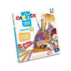Set articole creative CARIOCA Create & Color - KANGAROO 3D