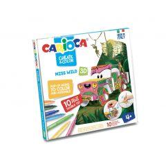 Set articole creative CARIOCA Create & Color - Ms. WILD 3D