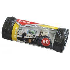 Saci menaj standard  60L, 58 x 70cm, 6.3 microni, 50buc/rola, Office Products - negri
