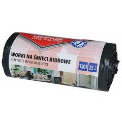 Saci menaj rezistenti 120L, 69 x 109cm, 28 microni, 25buc/rola, Office Products - negri