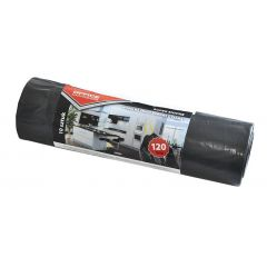 Saci menaj super rezistenti 120L,cu snur, 67 x 98cm, 45 microni, 10buc/rola, Office Products - negri