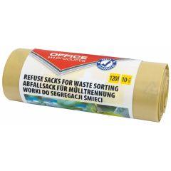 Saci menaj super rezistenti 120L, 10buc/rola, Office Products - galbeni - pt. plastic