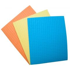 Lavete umede, absorbante, 18x16cm, 3buc/set, Office Products - culori asortate
