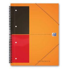 Caiet cu spirala A4+, OXFORD Int. Meetingbook, 80 file-80g/mp, Scribzee, 4 perf, coperta PP-dictando