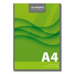 Blocnotes lipit, A4,  50 file - 70g/mp, AURORA Office - dictando