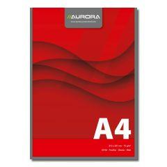 Blocnotes lipit, A4,  50 file - 70g/mp, AURORA Office - velin