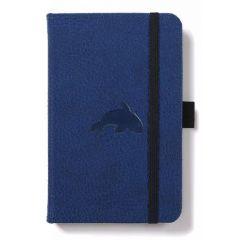 Caiet cu elastic, A6, 96 file-100g/mp-cream, coperti rigide albastre, Dingbats Whale - dictando