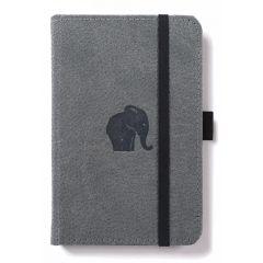 Caiet cu elastic, A6, 96 file-100g/mp-cream, coperti rigide gri, Dingbats Elephant - dictando