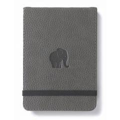 Blocnotes cu elastic, A6+, 96 file-100g/mp-cream, coperti rigide gri, Dingbats Elephant - dictando