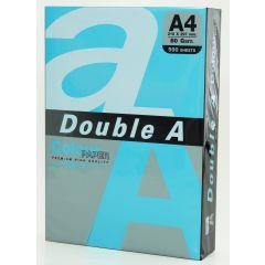 Hartie color pentru copiator  A4,  80g/mp, 100coli/top, Double A - albastru intens