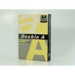 Hartie color pentru copiator  A4,  80g/mp,  25coli/top, Double A - pastel butter