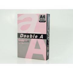 Hartie color pentru copiator  A4,  80g/mp, 100coli/top, Double A - pastel pink