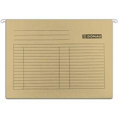 Dosar suspendabil cu eticheta, bagheta metalica, carton 230g/mp, 5 buc/set, DONAU - maro