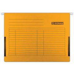 Dosar suspendabil cu burduf si eticheta , bagheta metalica, 5 buc/set, DONAU - orange