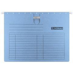 Dosar suspendabil cu sina, carton 230g/mp, bagheta metalica, 5 buc/set, DONAU - albastru