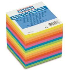 Cub hartie 90x90x90mm, 700 file - lipite pe o latura, DONAU - hartie culori asortate