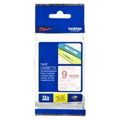 BROTHER TZE222 TAPE 9MM RED/WHITE