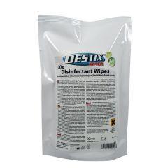 Servetele umede dezinfectante, 130 x 200mm, 120 buc/pack, Destix MA61 refill pack - aroma lamaie