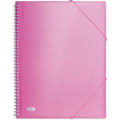 Dosar de prezentare cu 40 de folii, ELBA Urban, spirala, coperti PP, elastic pe colturi - roz transp