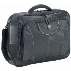 "Geanta laptop 17"" (45x33x12cm), polyester DuraFibre, FALCON - negru/gri"