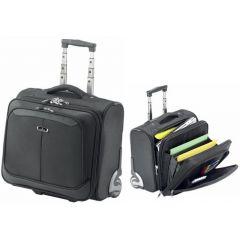 "Geanta laptop 16""(40.5x38x24cm), polyester DuraTuff 1680, maner si rotile, FALCON - negru"