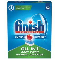 Pastile detergent automat  pentru masina vase, 52 buc/cutie,  All in 1 - FINISH