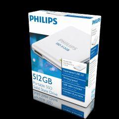 Hard disk extern PHILIPS - SSD 512GB, USB 3.0