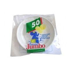 Farfurii plastic alb, diametru 17 cm, 50 buc/set