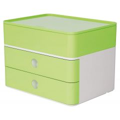 Suport cu 2 sertare + cutie ustensile HAN Allison Smart Box Plus - verde lime