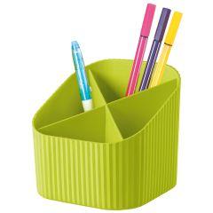 Suport pentru instrumente de scris, 4 compartimente, HAN X-Loop Trend-Colours - lemon