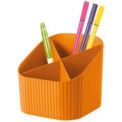 Suport pentru instrumente de scris, 4 compartimente, HAN X-Loop Trend-Colours - orange