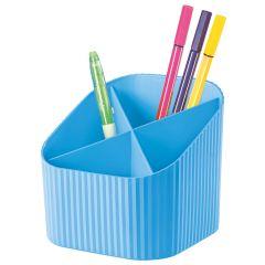 Suport pentru instrumente de scris, 4 compartimente, HAN X-Loop Trend-Colours - hell bleu