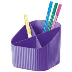 Suport pentru instrumente de scris, 4 compartimente, HAN X-Loop Trend-Colours - lila