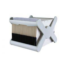 Suport plastic pentru 35 dosare suspendabile, HAN X-Cross - gri deschis