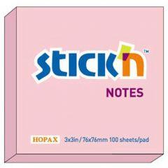 "Notes autoadeziv 76 x  76 mm, 100 file, Stick""n - roz pastel"