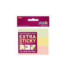 "Etichete autoadezive 25 x 88 mm, 3 x 30 etichete/set Stick""n Extra sticky label - pastel asortate"