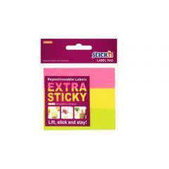 "Etichete autoadezive 25 x 88 mm, 3 x 30 etichete/set Stick""n Extra sticky label - neon asortate"