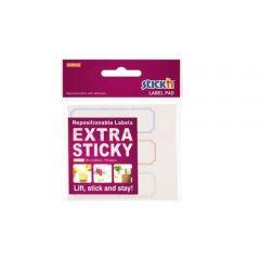 "Etichete autoadezive 25 x 88 mm, 3 x 30 etichete/set Stick""n Extra sticky label - albe- chenar color"