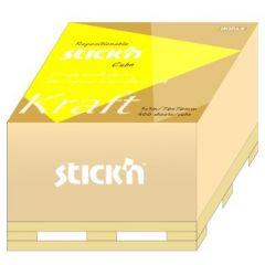 """Cub notes autoadeziv 76 x 76 mm, 400 file, Stick""""n - kraft"""