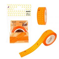 """Banda pentru decorat in rola, 16 mm x 10 m, Stick""""n - design portocaliu"""