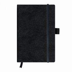 BLOC NOTES A5 96F PATRATELE COPERTA DIN PIELE SINTETICA, ELASTIC MY.BOOK CLASSIC NEGRU