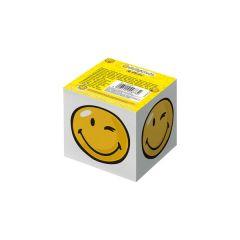 BLOC NOTITE 8X8X7CM 700 FILE ALB MODEL SMILEY WORLD