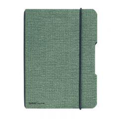 CAIET MY.BOOK FLEX A4 40 FILE PATRATELE PERFORAT COPERTA DIN PANZA GRI ELASTIC NEGRU