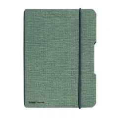 CAIET MY.BOOK FLEX A5 40 FILE PATRATELE COPERTA DIN PANZA GRI ELASTIC NEGRU